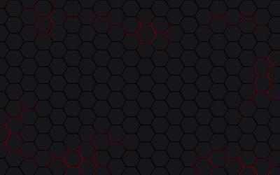 Gray hexagons wallpaper