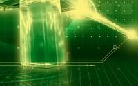 Green crystal in the grid wallpaper 2560x1600 jpg