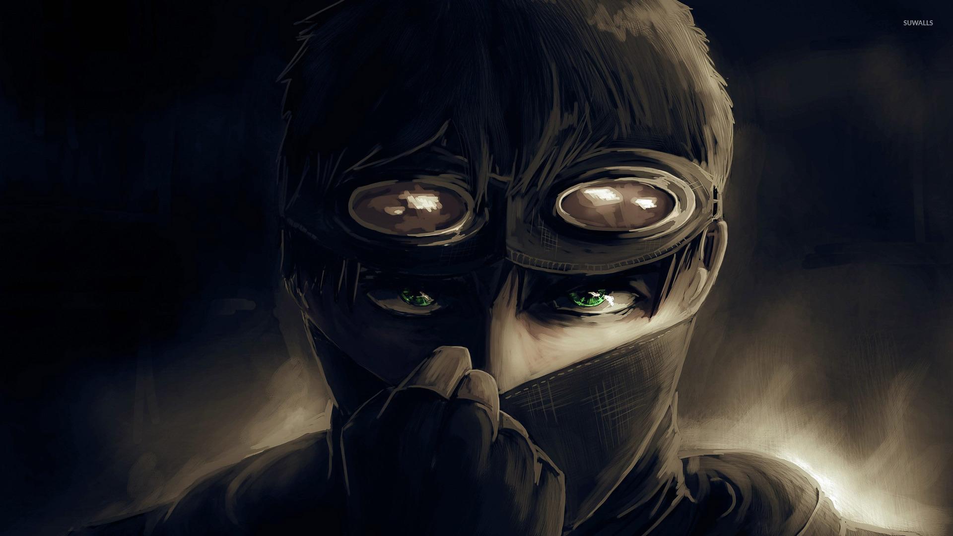 Аниме арт парень в маске