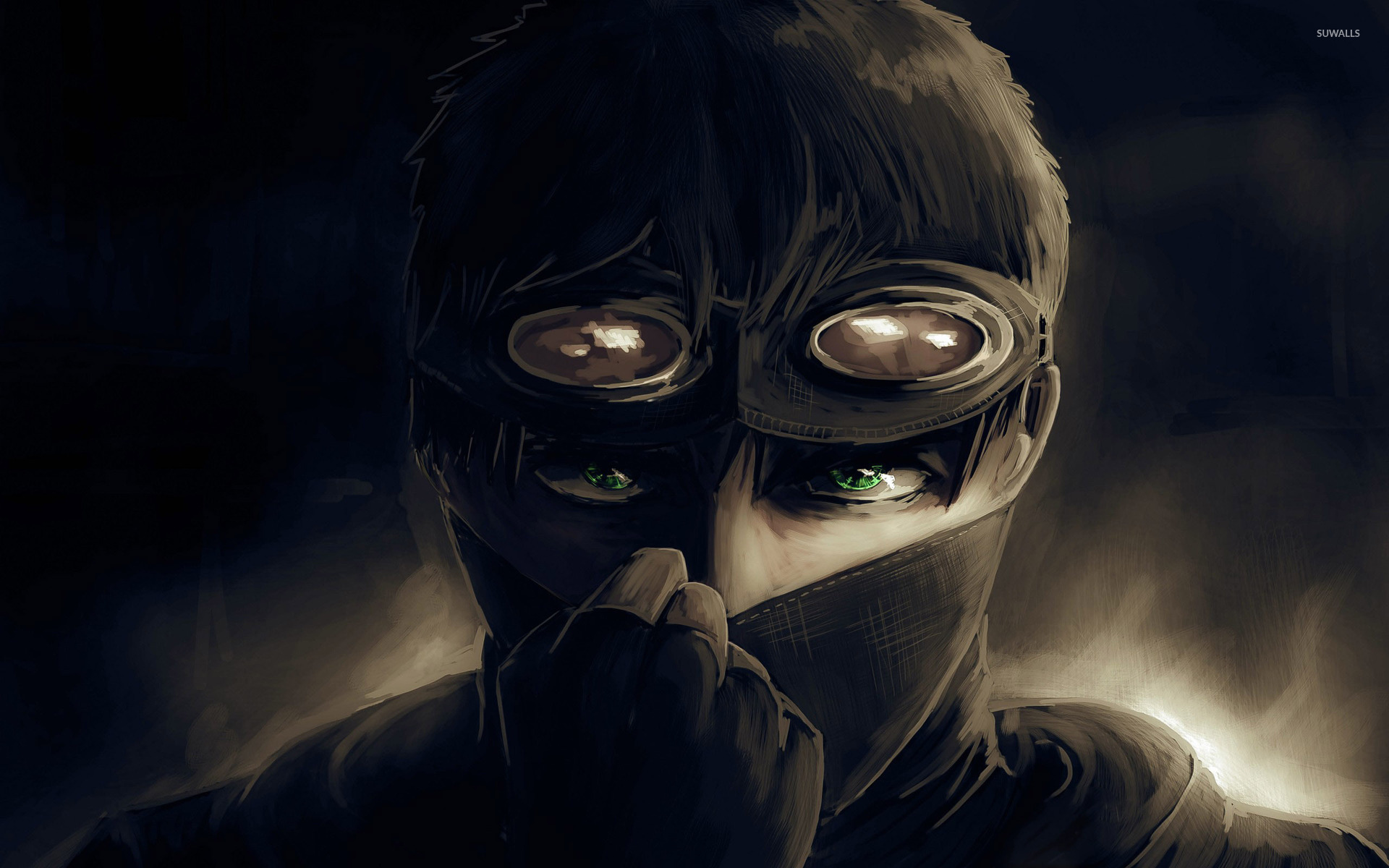 green eyed man with mask wallpaper digital art wallpapers 46736