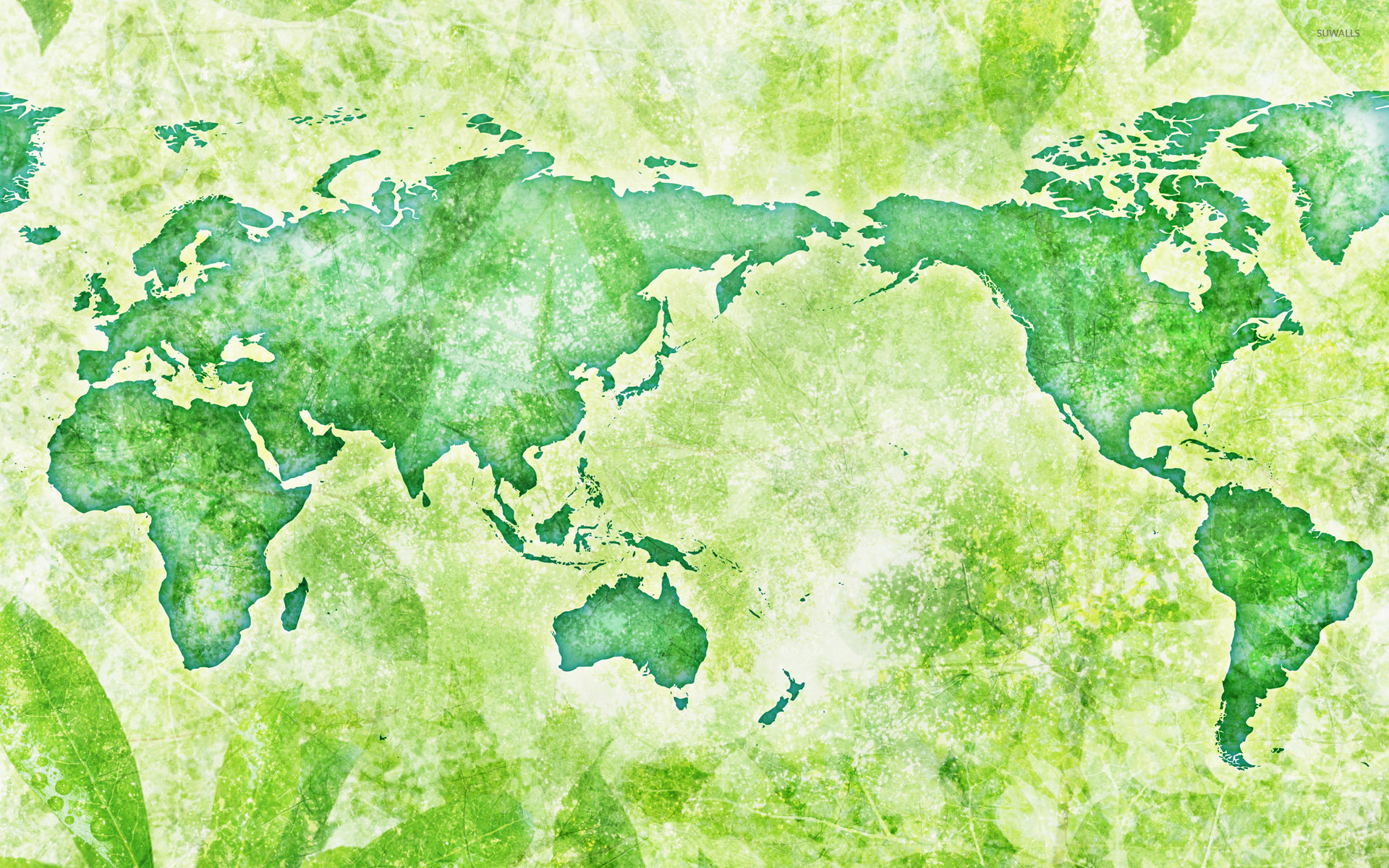 Green map of the world wallpaper digital art wallpapers 54471 green map of the world wallpaper gumiabroncs Images