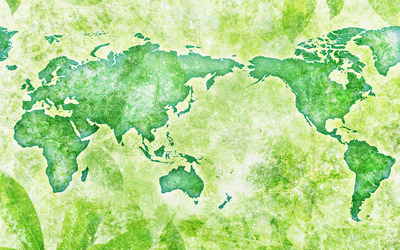 Green map of the world wallpaper
