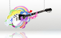 Guitar held by strings wallpaper 1920x1200 jpg