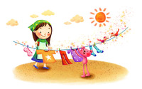 Hanging clothes to dry wallpaper 1920x1200 jpg