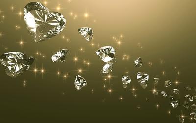 Heart shaped diamonds wallpaper