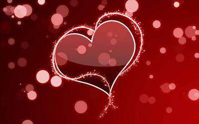 Hearts and circles wallpaper