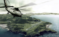 Helicopter heading to the island wallpaper 1920x1080 jpg