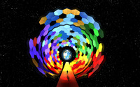 Hexagon wormhole to Earth wallpaper 2560x1600 jpg