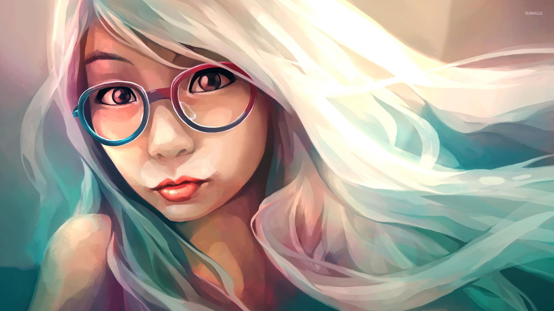 Hipster girl wallpaper - Digital Art