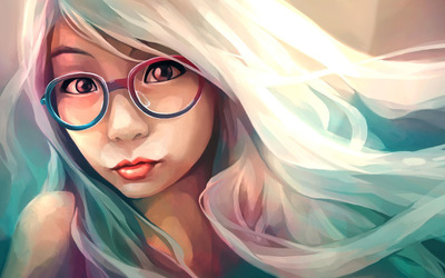 Hipster girl wallpaper