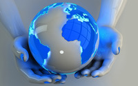 Holding the globe wallpaper 2560x1440 jpg