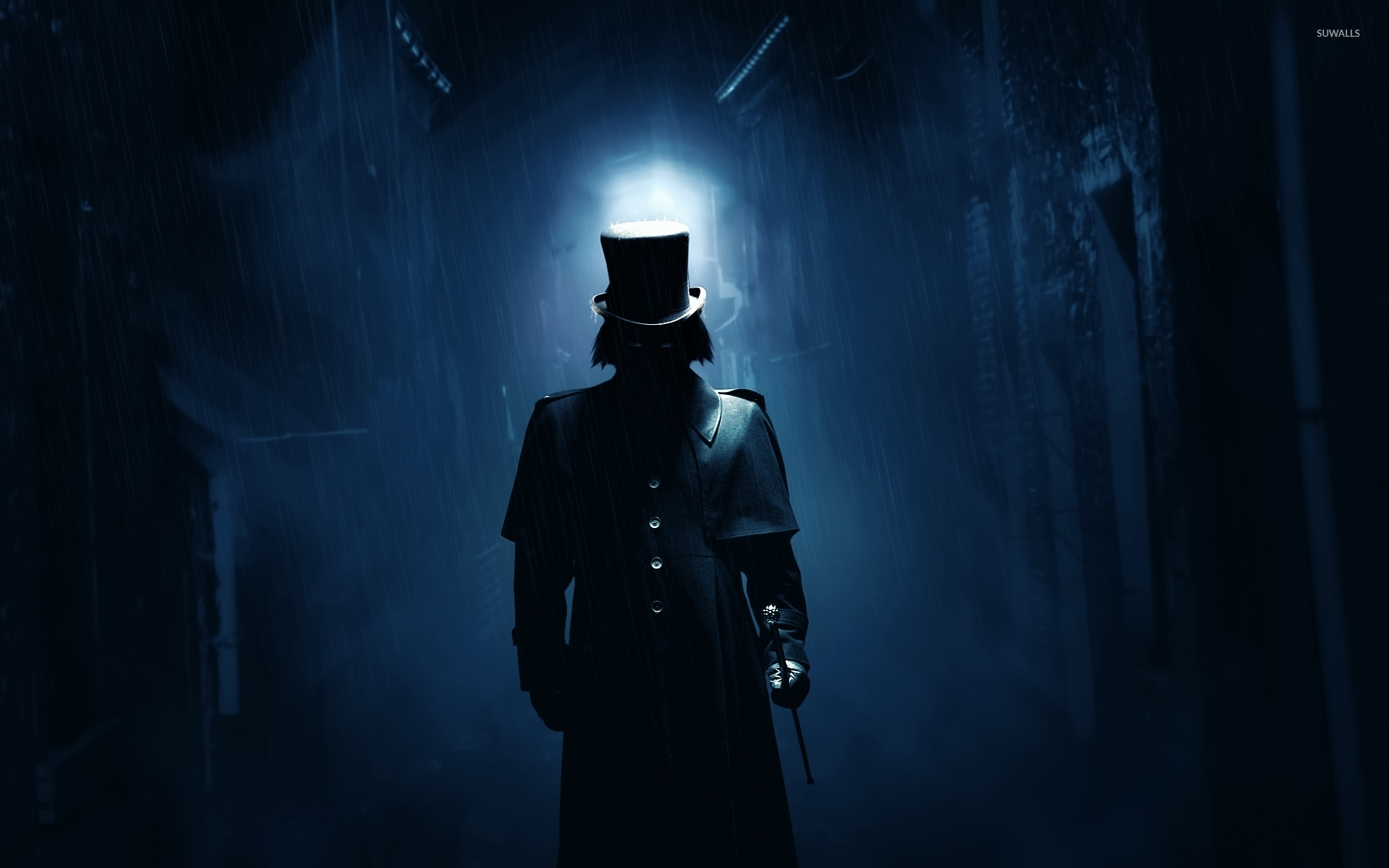 Jack The Ripper On A Dark London Street Wallpaper