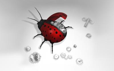 Ladybug robot wallpaper