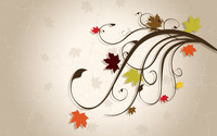Leaves on swirls wallpaper 2880x1800 jpg