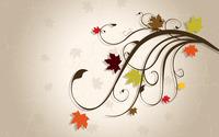 Leaves on swirls wallpaper 2880x1800 jpg