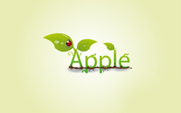 Leaves on the apple sign wallpaper 1920x1200 jpg