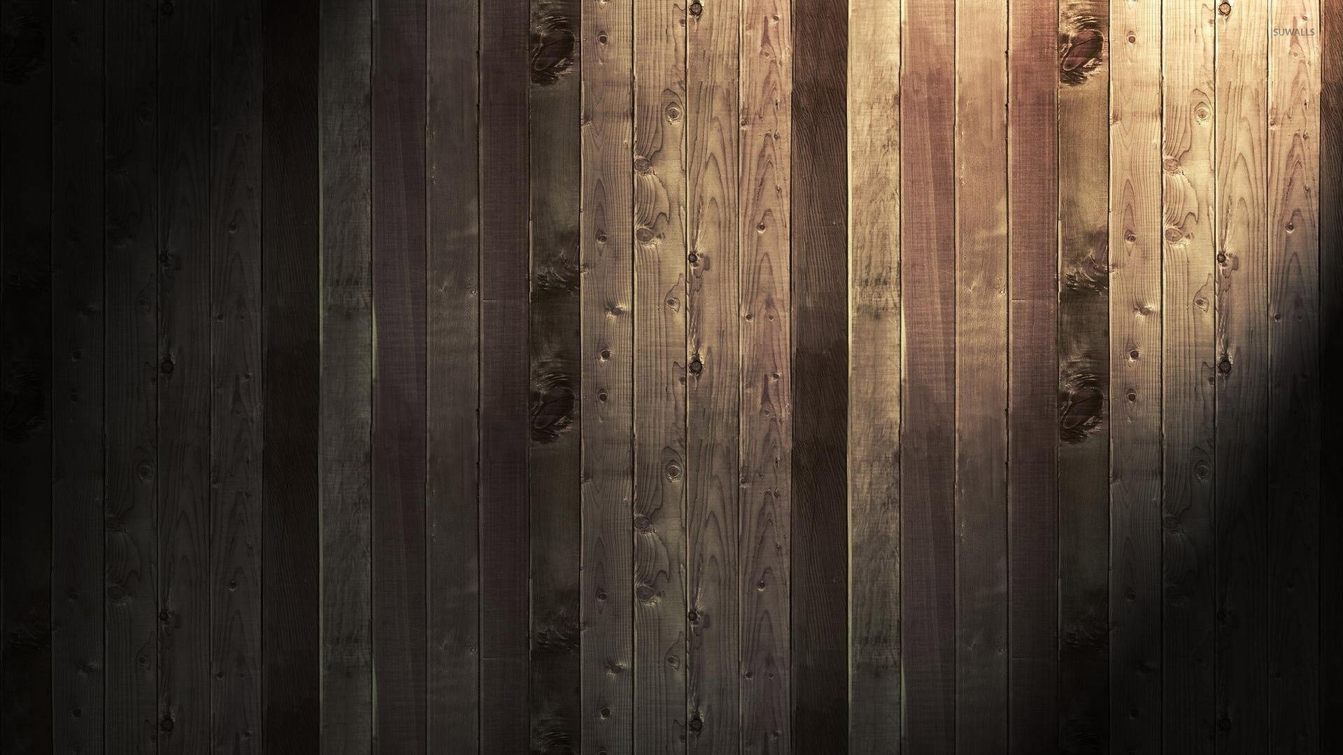 Light Shining On The Wood Panels Wallpaper