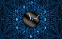 Lightning clock wallpaper 1920x1080 jpg