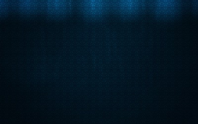Lights on the blue pattern wall wallpaper