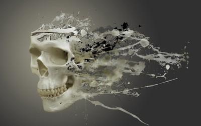 Liquefied skull wallpaper