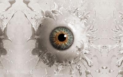 Liquid eyeball wallpaper