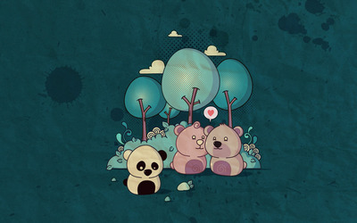 Lonely panda wallpaper
