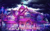 Magical mansion in the forest wallpaper 1920x1080 jpg