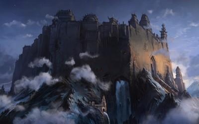 Medieval castle wallpaper