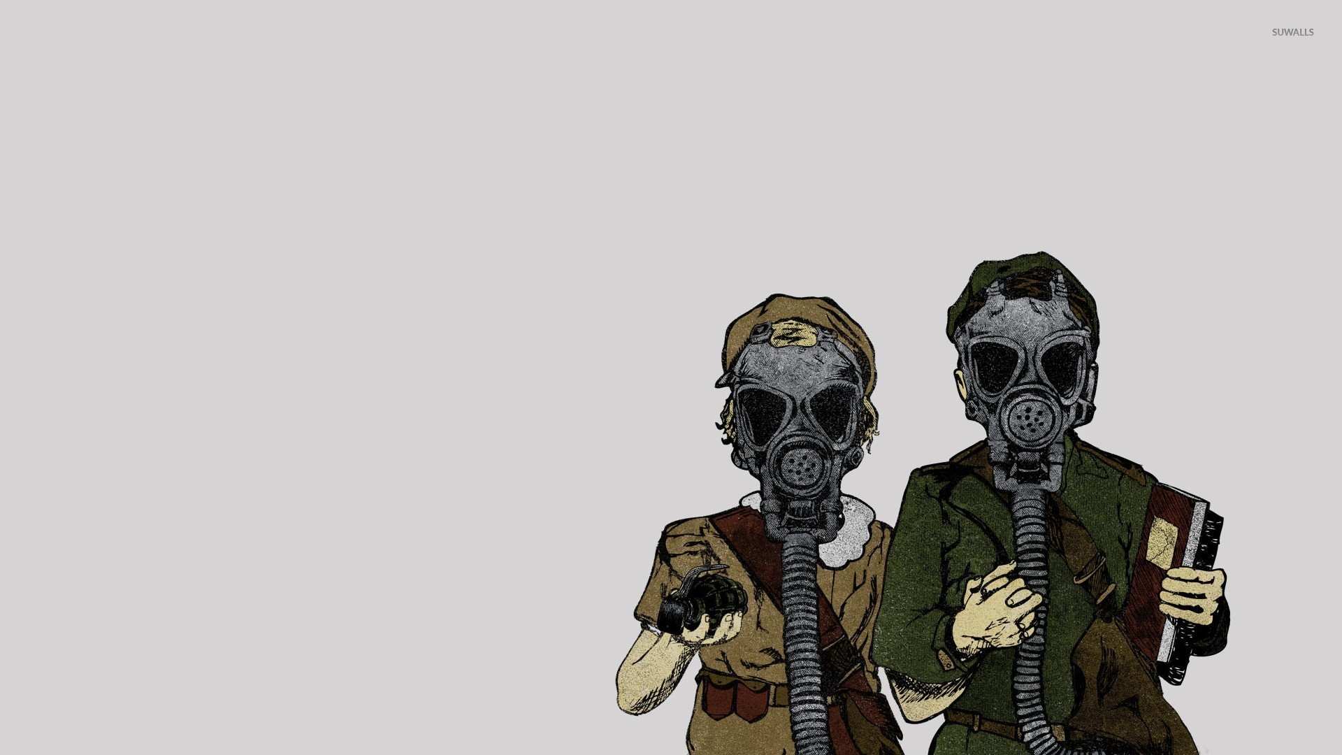 Men With Gas Masks Wallpaper Digital Art Wallpapers 43998