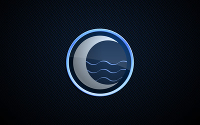 Moon logo wallpaper