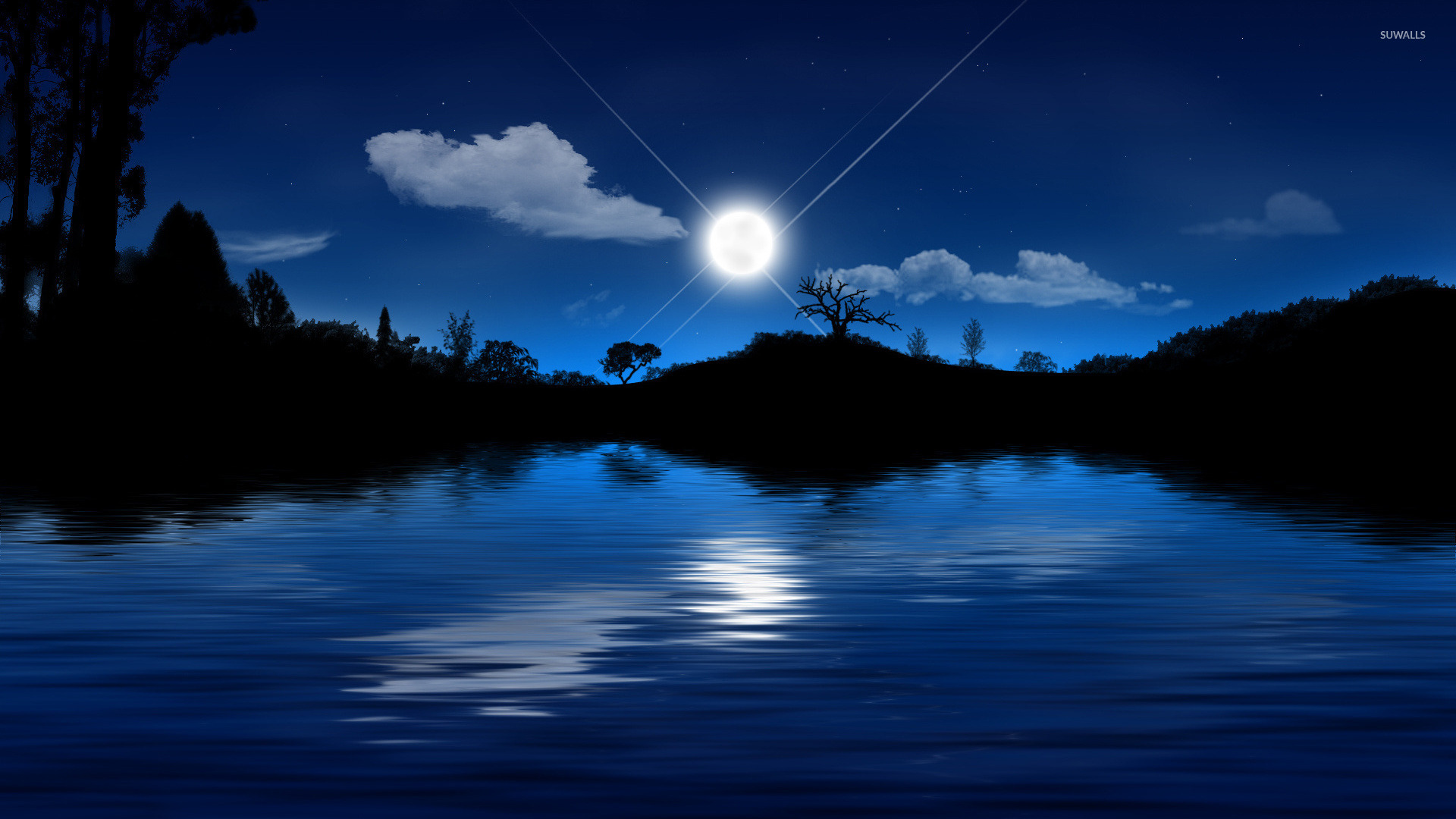 Image result for moonlit lake