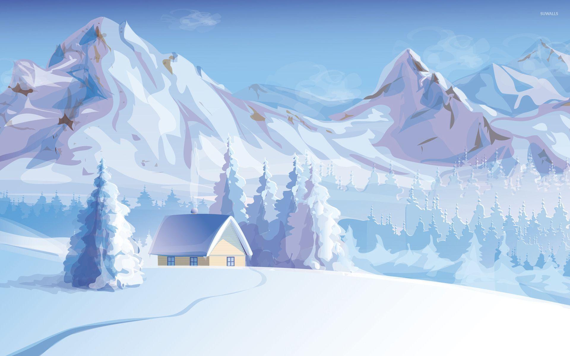 Photo Collection Winter Mountain Wallpaper Cartoon