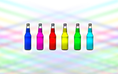 Multicolored bottles wallpaper