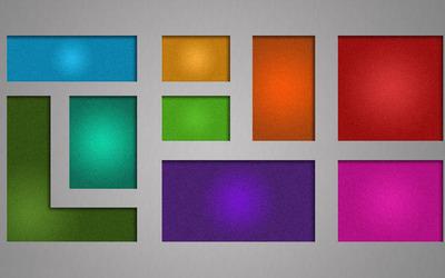 Multicolored squares wallpaper