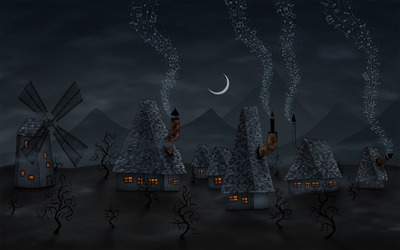 Music from the chimneys Wallpaper