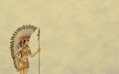 Native american girl wallpaper