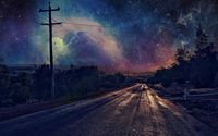 Nebula covered night sky wallpaper 1920x1080 jpg
