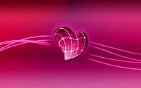 Neon lights on a pink heart wallpaper 1920x1200 jpg