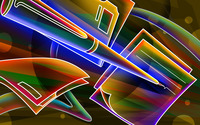 Neon outlines of pen and paper wallpaper 2560x1600 jpg