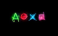 Neon Playstation console wallpaper 1920x1200 jpg