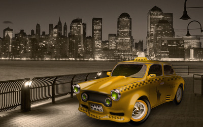 New York City cab wallpaper