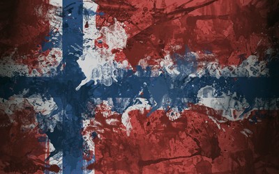 Norway flag with paint drops wallpaper