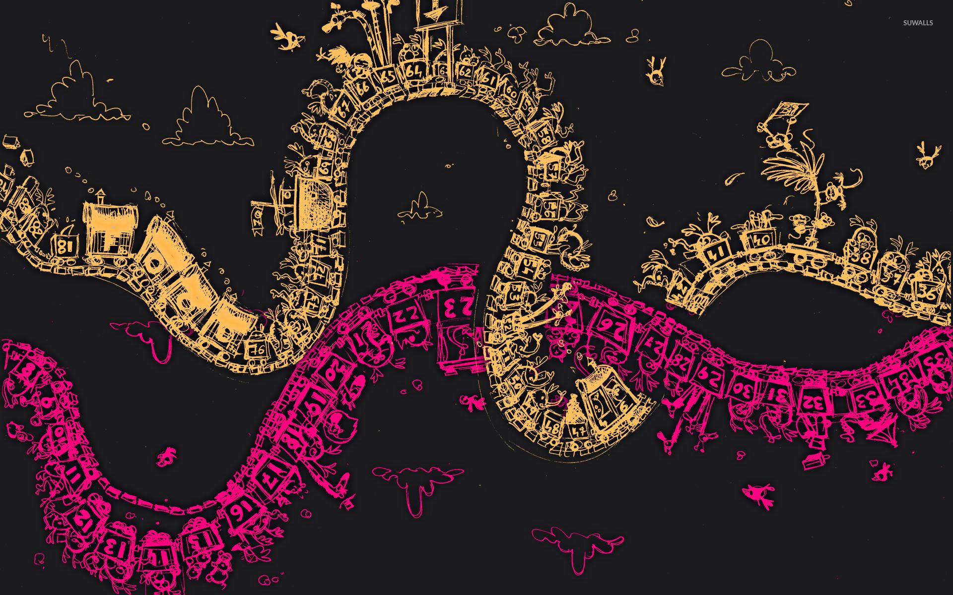 number train wallpaper - digital art wallpapers - #45069
