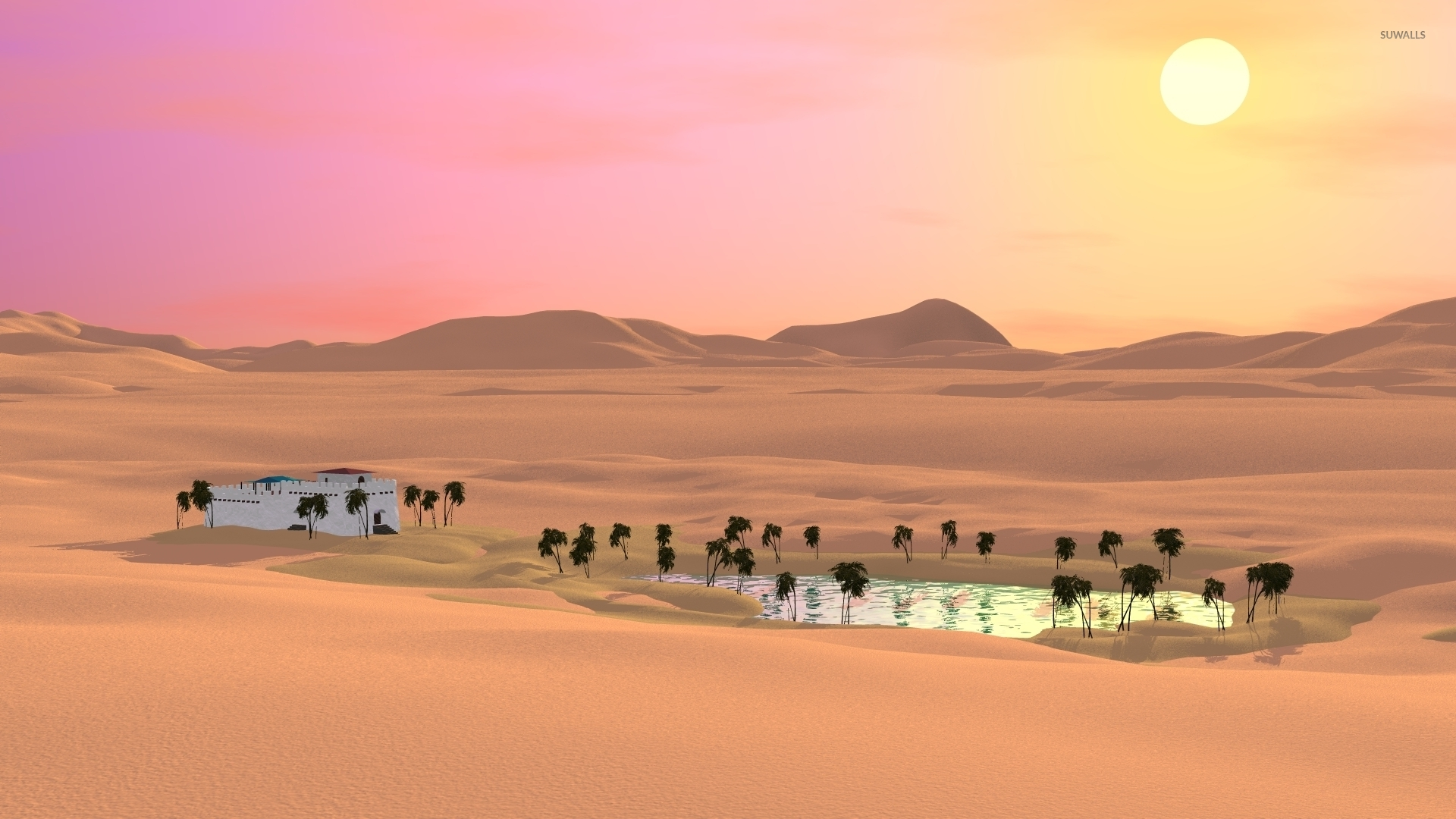 Oasis In The Desert Wallpaper Digital Art Wallpapers 51413