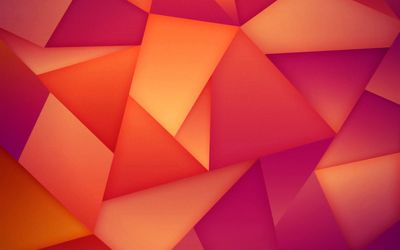 Orange and pink triangles wallpaper