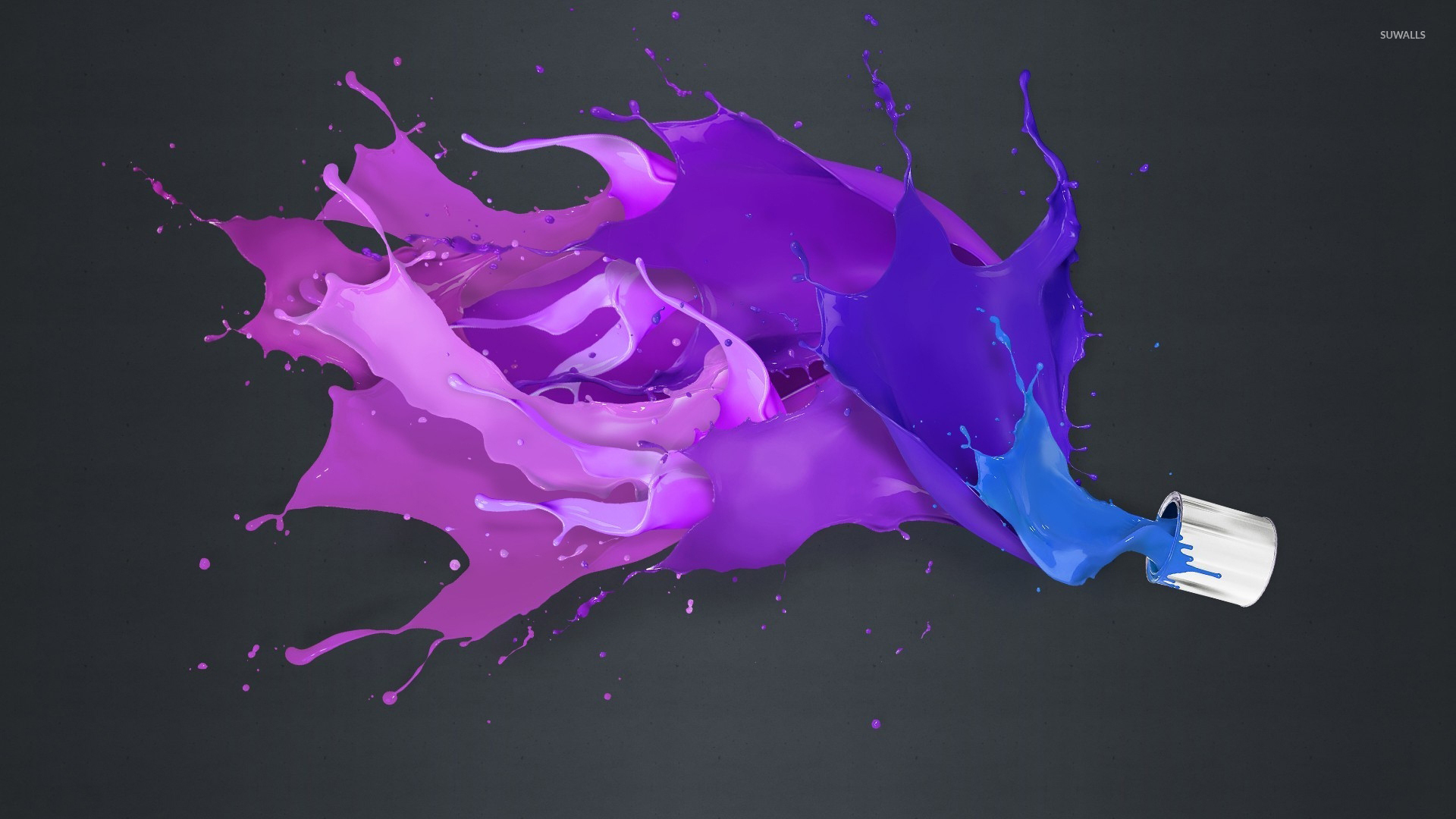 Paint Can Spilling On The Gray Floor Wallpaper 1920x1080 Jpg