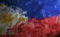 Paint splash on the flag of Philippines wallpaper 1920x1080 jpg