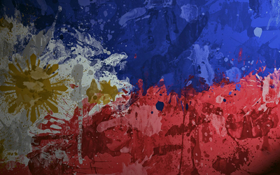 Paint splash on the flag of Philippines wallpaper