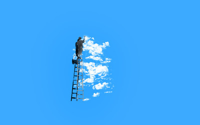 Painting the clouds wallpaper