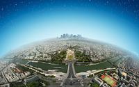Paris from space wallpaper 2880x1800 jpg